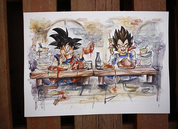 Goku y Vegeta ÑAM! -ORIGINAL