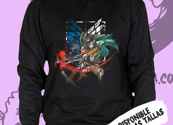 SUDADERA Mikasa Ackerman (Shingeki no kiojin)