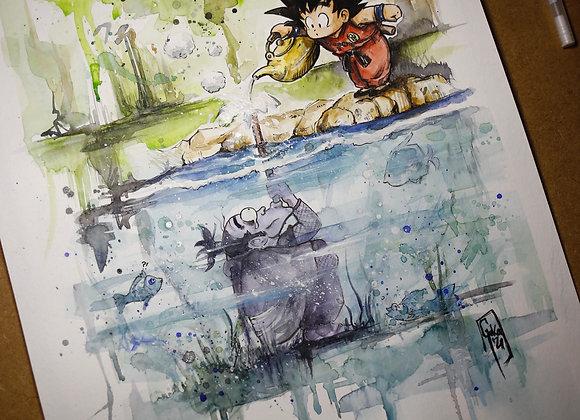Goku y Ninja Murasaki- ORIGINAL