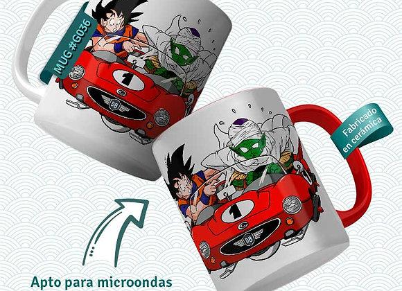 TAZA Goku +  Satan coche (Dragon Ball)