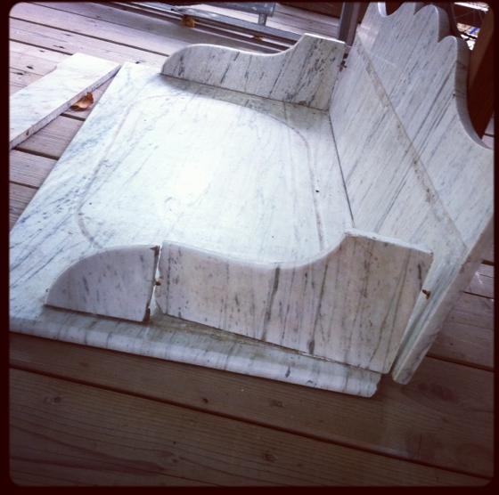 Coiffeuse marbre-Etat initial