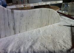 Coiffeuse marbre-après restauration