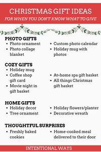 Christmas Gift Ideas for When You Don't Know What to Give