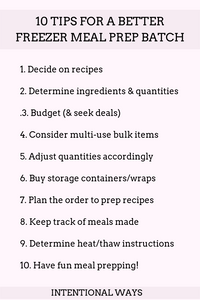 10 Tips for a Better Freezer Meal Prep Batch