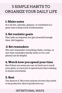 How to Organize Your Daily Life With 5 Simple Habits