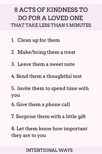 8 Acts of Kindness to do for a Loved One in Under 5 Minutes