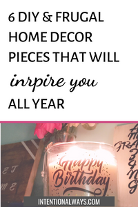 6 DIY Inspirational Home Decor Pieces You'll Love for the New Year