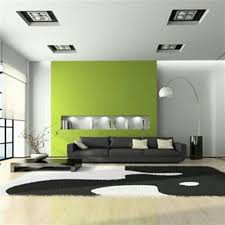 green feature wall in lounge newcastle painter