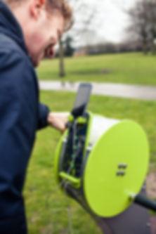Energy Hand Bike charging the users devi