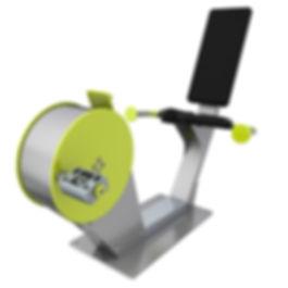 TGO892_Energy Recumbent Bike_3D Render_s