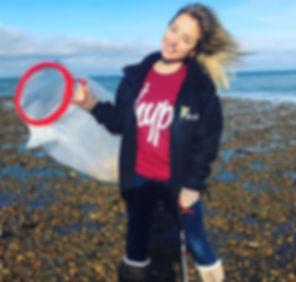 Georgie beach clean up instagram1.JPG