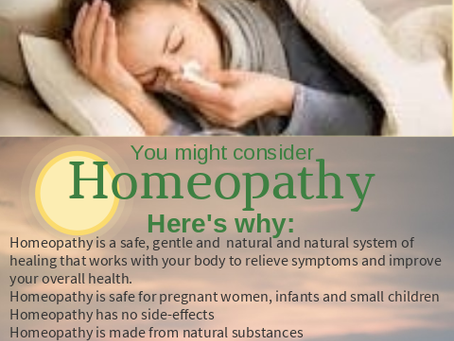 Consider Homeopathy