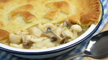Homemade Chicken and Mushroom Pie
