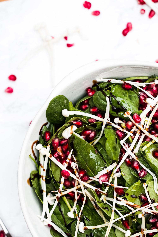 Pomegranate & Enoki Salad