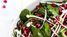 Pomegranate & Enoki Mushroom Salad