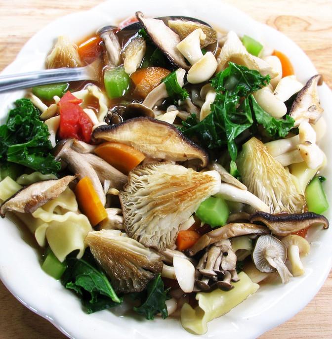 Woodland Mushroom Minestrone Soup