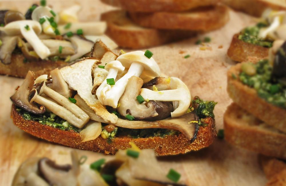 Woodland Mushroom Bruschetta