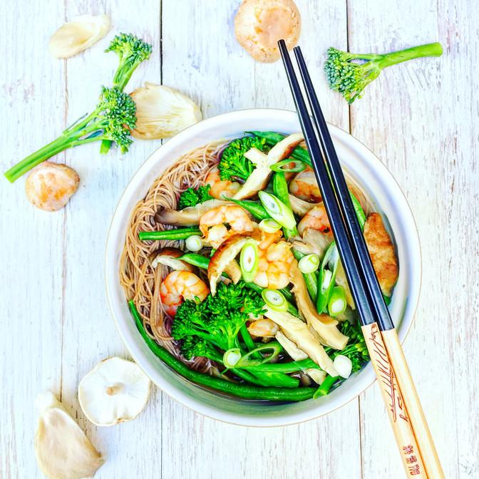 Woodland Mushroom & Prawn Noodle Bowl