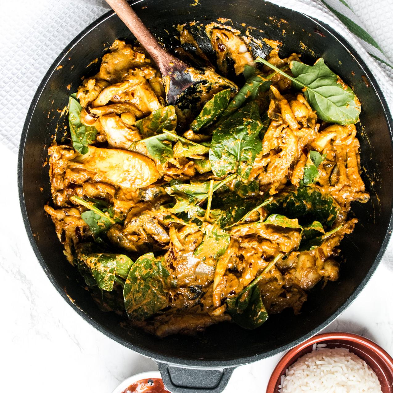 Char Khumbi woodland mushroom curry