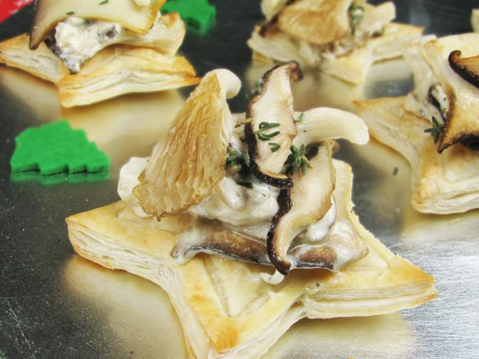 Woodland Mushroom Christmas Tarts
