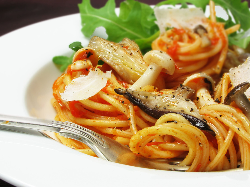 woodland mushroom spaghetti