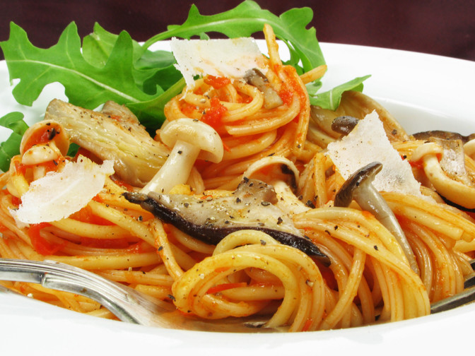 Woodland Mushroom Red Pepper Spaghetti