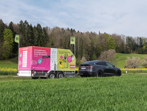 Getränkekarton-Recycling auf Tour 2021