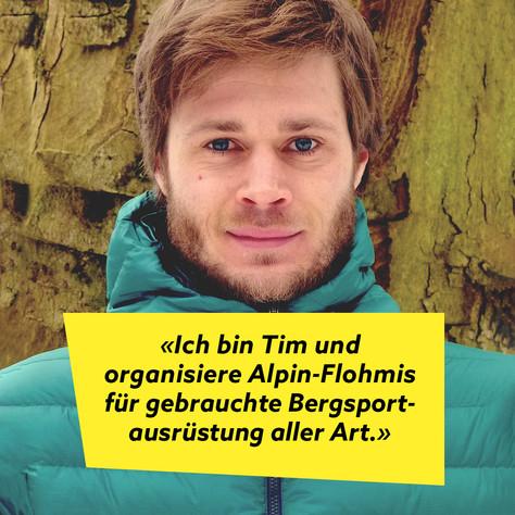 Tim von Alpin-Flohmi: Flohmis für Bergsportausrüstung