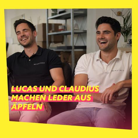 Lucas und Claudius von Sohotree: Leder aus Äpfeln