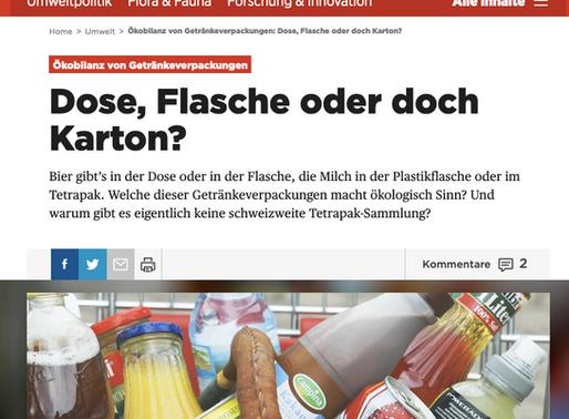 Der Beobachter berichtet über das Recyceln von Dosen, Flaschen und Getränkekartons.