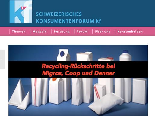 Das Schweizerische Konsumentenforum berichtet