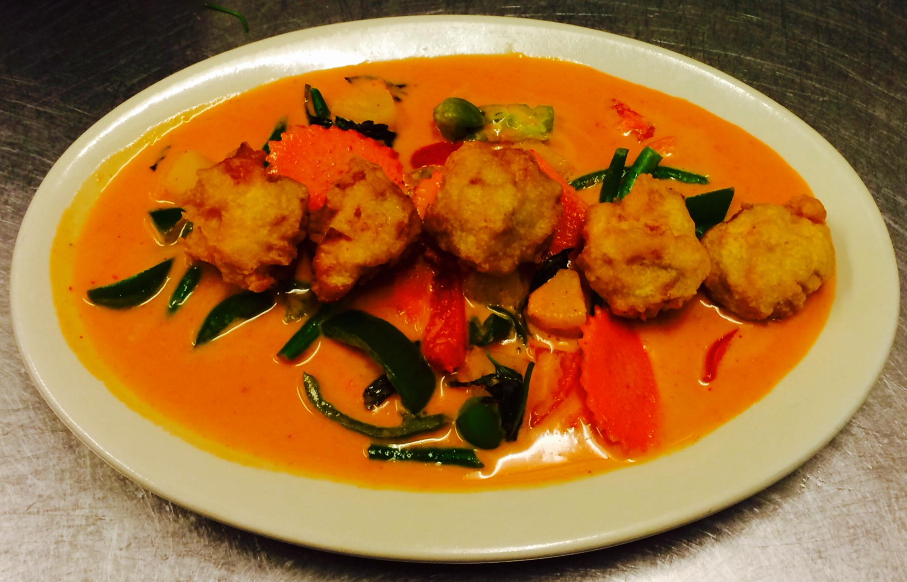 Pork Dumpling Red Curry