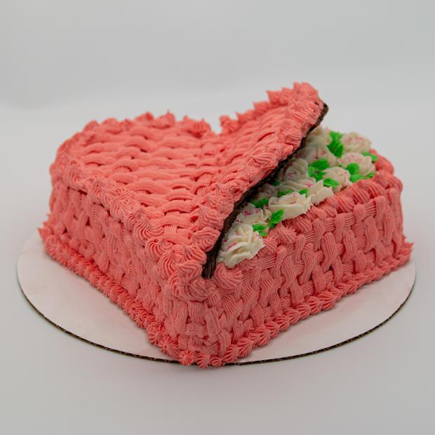 Valentine's Day Basket Cake