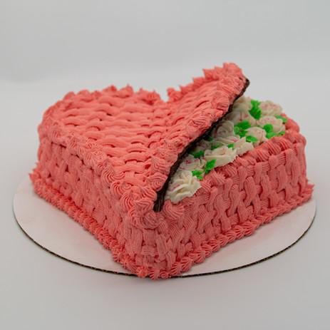 Valentine's Basket Cake