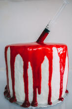 Blood Halloween Cake