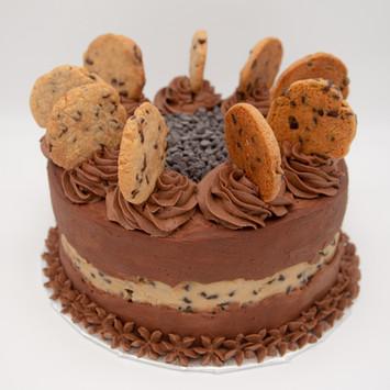 Chocolate Chip Faultline cake