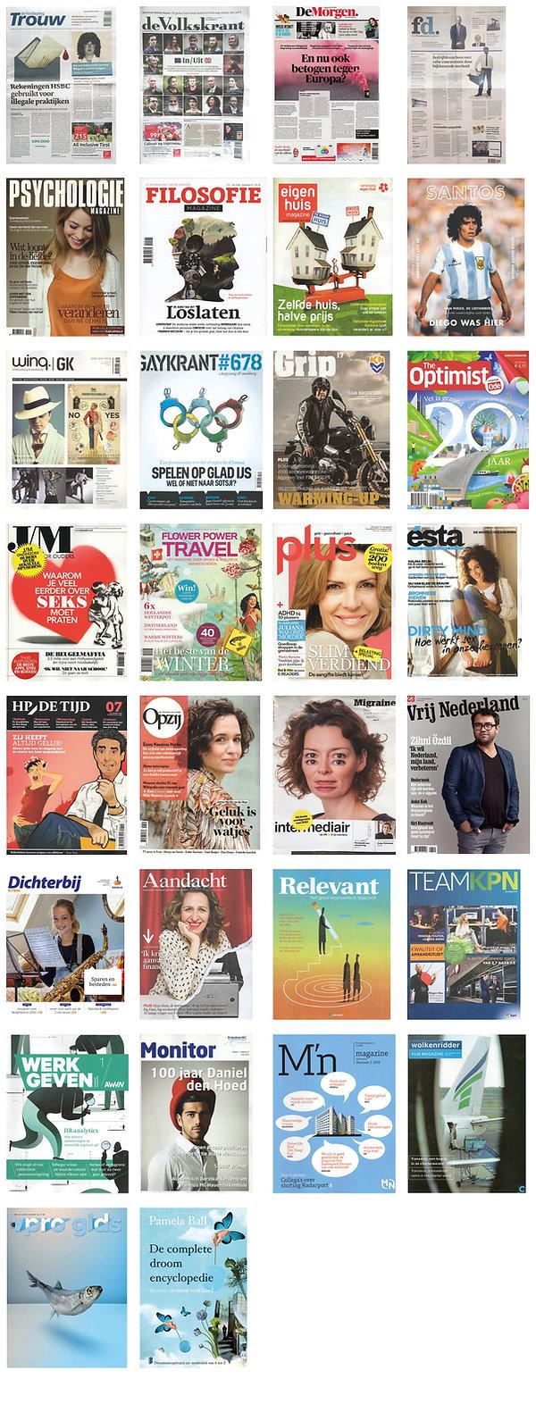 Opdrachtgevers Studio Vonq Mirjam Riemens Dagblad Trouw Volkskrant HP de tijd