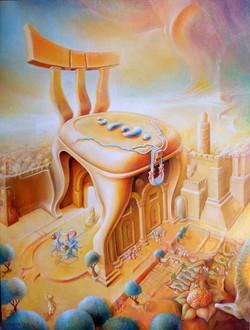 כסא דוד בחומת ירושלים