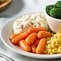 Three vegetable plate