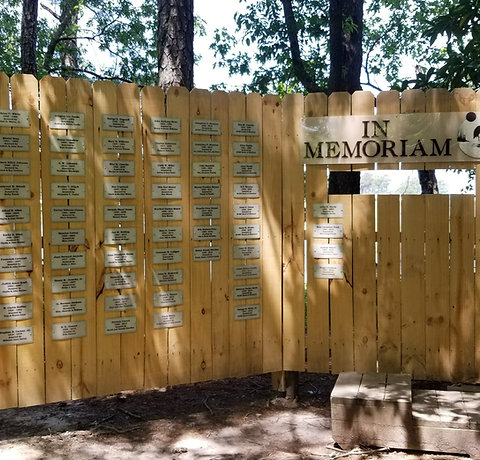Memorial Blind Plaque