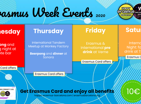 Erasmus Week Events 2020