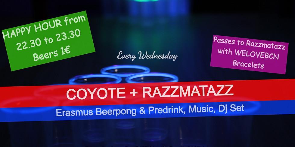 Wednesday Erasmus PreGame at Coyote