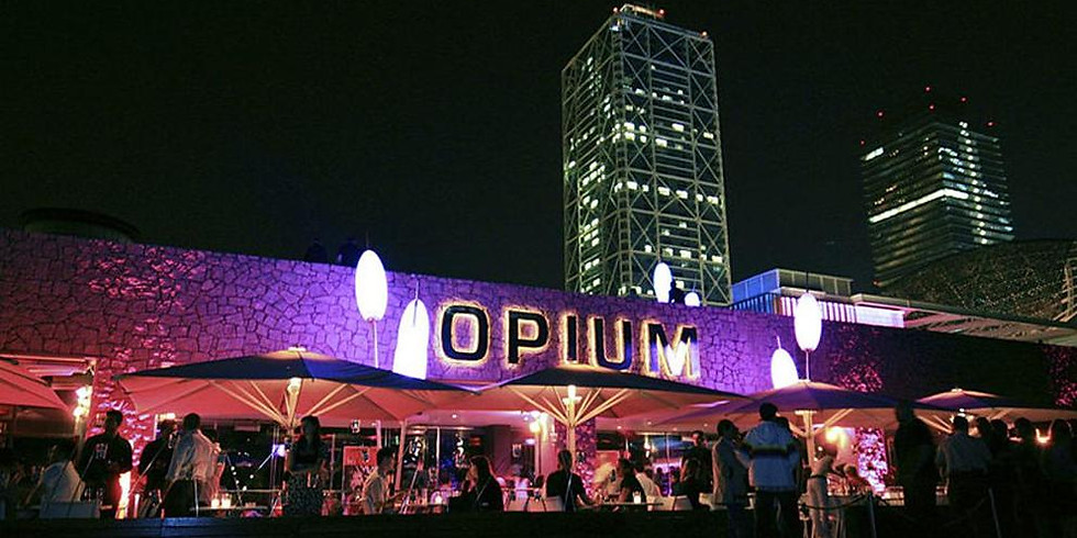 International Terrace Beach Drinks at Opium
