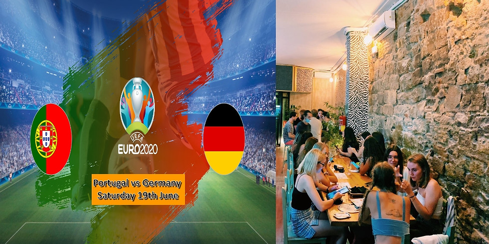 Portugal vs Germany Eurocopa Meetup (Free shot every goal)