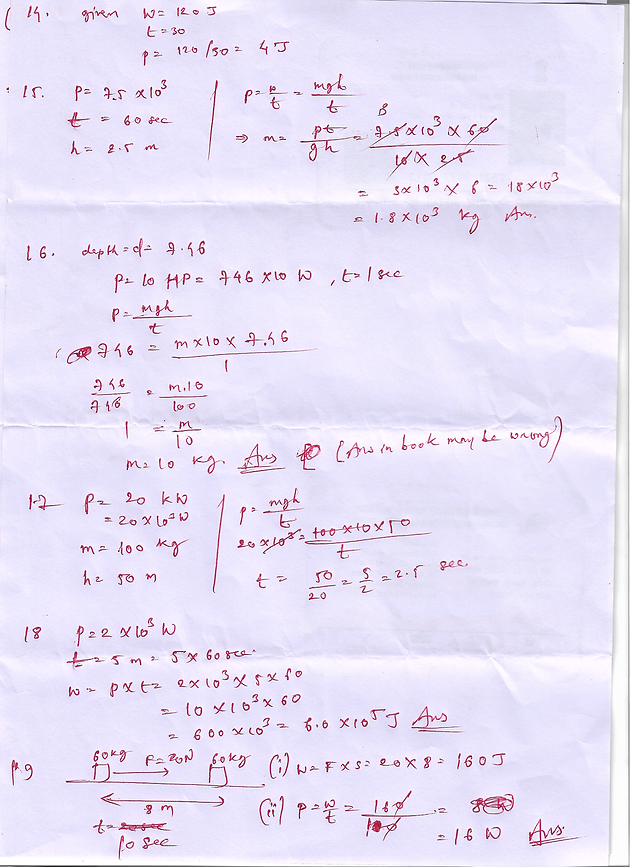 11 class numericals of shivlal physics