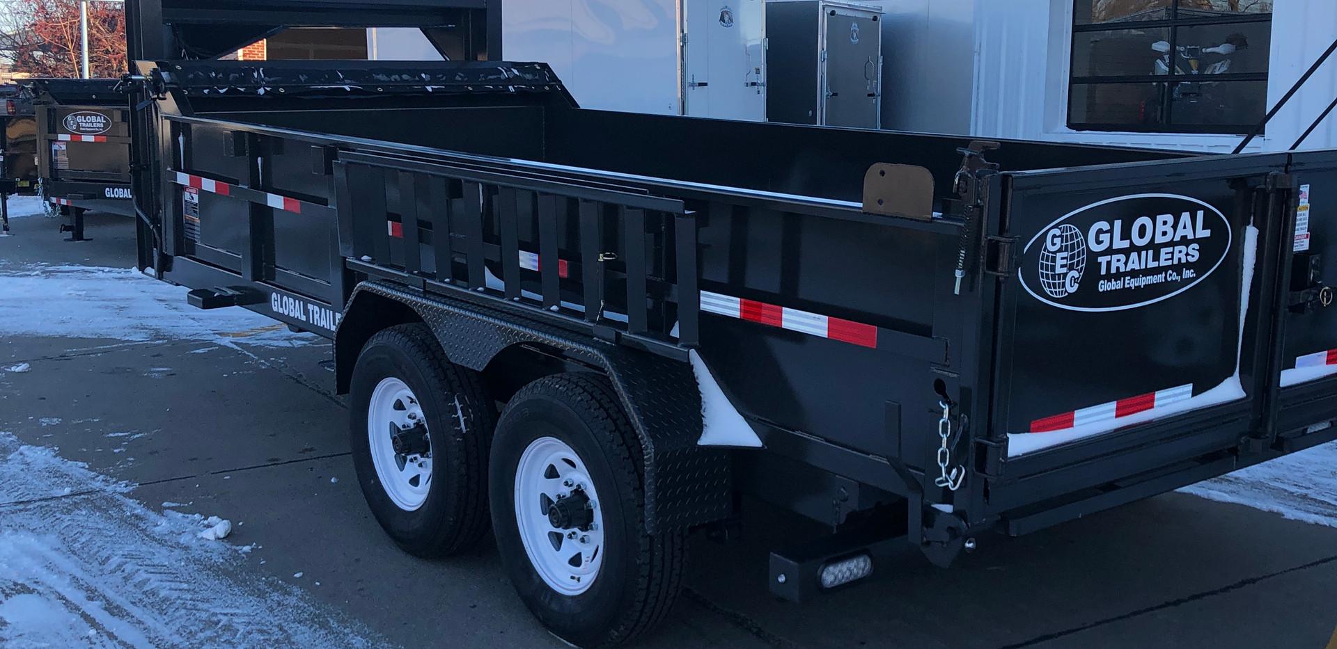 2021 Global Equipment Company 16' Gooseneck Dump Trailer