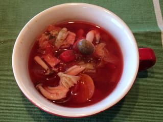 温か簡単レシピ「ラタトゥイユのボルシチ風」