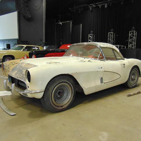 SOLD 45,000 1957 Chevrolet Corvette Convertible BARN FIND