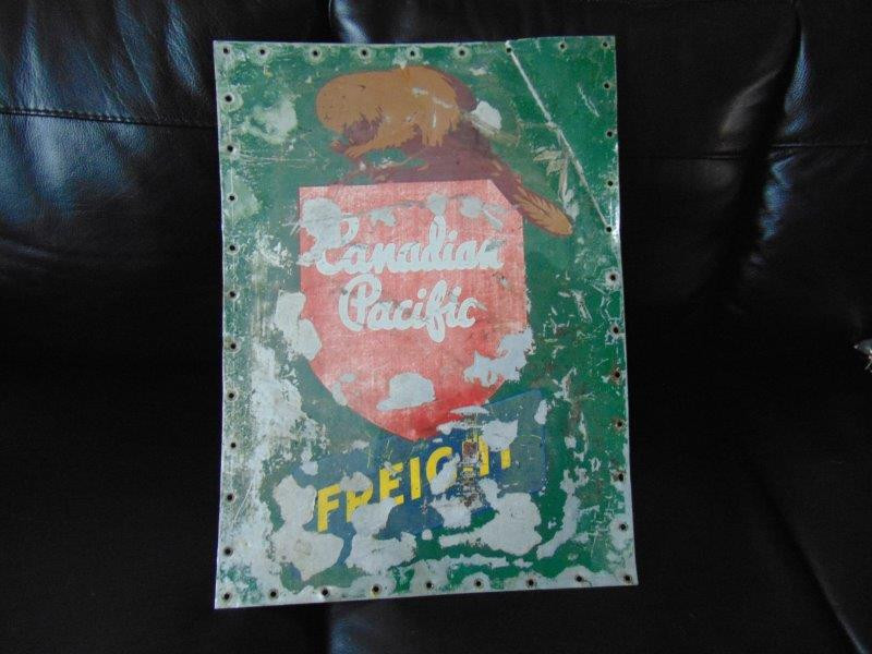 SOLD - Vintage CP Freight Sign