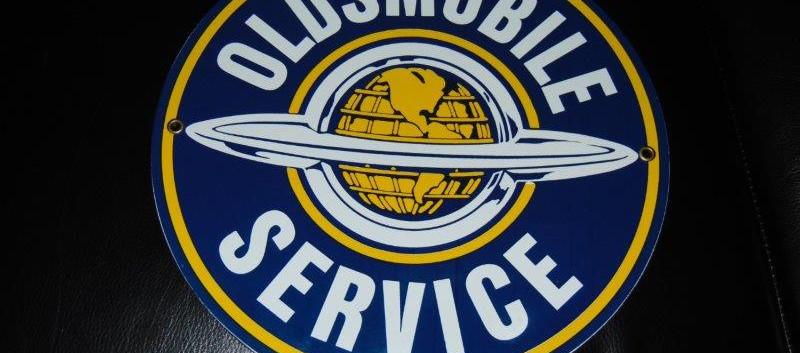 SOLD - Porcelain Oldsmobile Service Sign